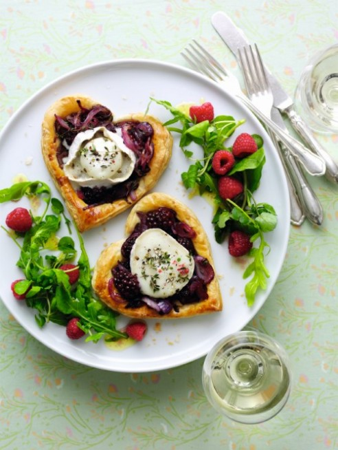 Blackberry and Goats Cheese Tarts